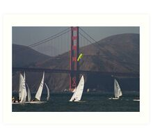 Sailing on the Bay part one Art Print
