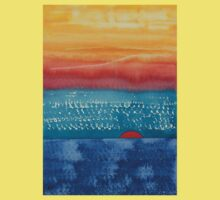 A New Day Dawns original painting Kids Tee
