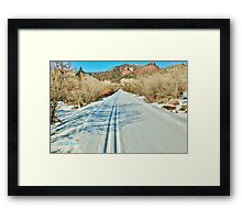 North Through the Jaws of Snowmass Canyon Framed Print