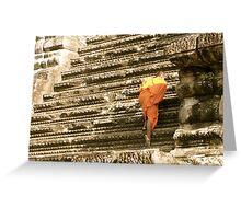 Monk at Angkor Wat Greeting Card