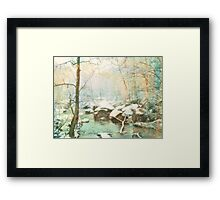 Winter's Kiss Framed Print
