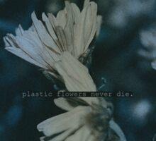 Plastic flowers Sticker