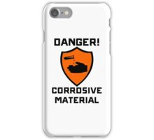 Warning - Danger Corrosive Material iPhone Case/Skin