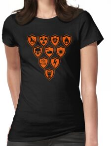 Warning signs Womens Fitted T-Shirt