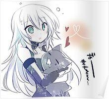 Black Heart (Noire) hugging a cat Poster