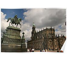Dresden city centre on a great summer day Poster