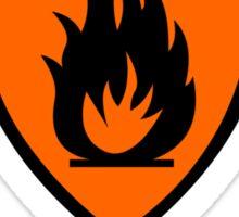 Warning - Danger Flammable Material Sticker