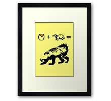 Honey + Badger = Honey Badger Framed Print