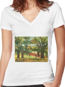 The Countryside Women's Fitted V-Neck T-Shirt