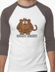 Chunky Monkey Men's Baseball ¾ T-Shirt