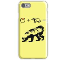 Honey + Badger = Honey Badger iPhone Case/Skin