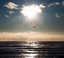 Kitesurfer - Grau du Roi, France - 2010 by Nicolas Perriault