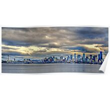 Seattle Washington Skyline in HDR Poster
