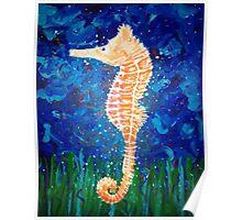 Sea Horse Blues Poster