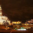 Nocturnal panorama of Dresden at the River Elbe by christopher363