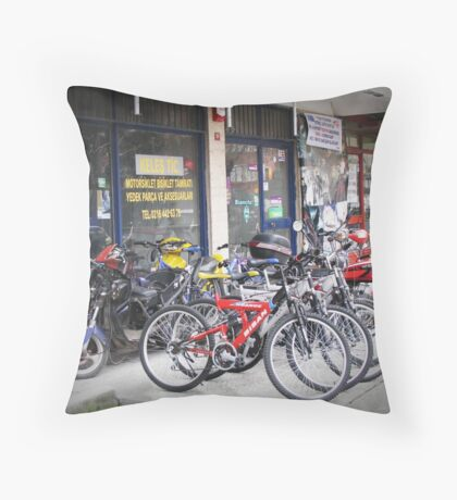 Waiting new owners! Throw Pillow