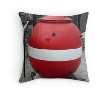 Old Sea Mine collection box. Throw Pillow