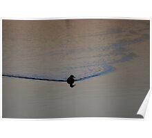 Scaling Dam at Sunset Poster