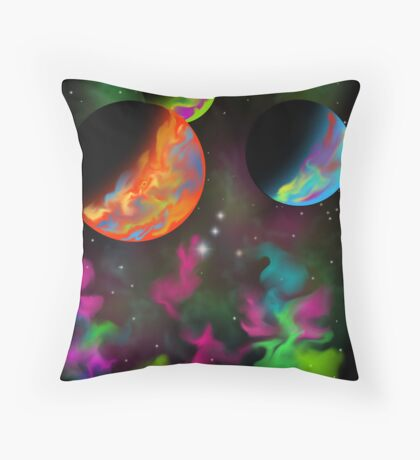 3 Planets Throw Pillow