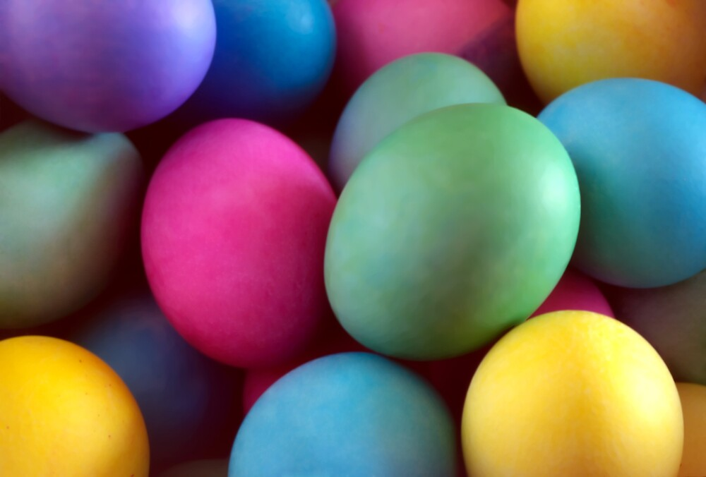 Dyed Easter Eggs Abstract by SteveOhlsen