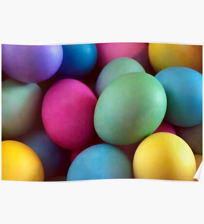Dyed Easter Eggs Abstract Poster