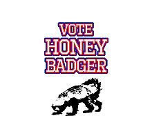 Vote Honey Badger Photographic Print