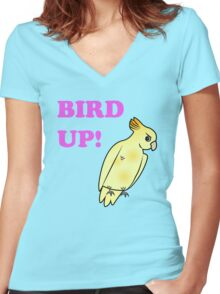 Bird UP Women's Fitted V-Neck T-Shirt