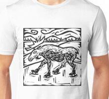 Skating Moose Unisex T-Shirt