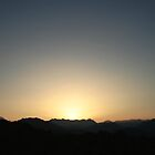 Egypt Sunset over the mountains in the Sinai Dessert by Jenna Bussey