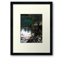 Tree Reflection/Light on Water #1 – February 6, 2010 Framed Print