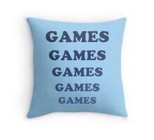 Games Games Games Throw Pillow