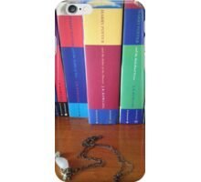 Harry Potter books and necklace iPhone Case/Skin