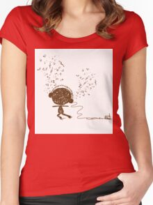 Music feeling Doodle Women's Fitted Scoop T-Shirt