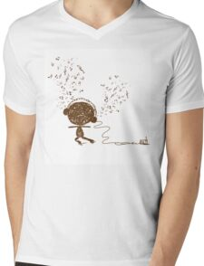 Music feeling Doodle Mens V-Neck T-Shirt