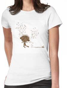 Music feeling Doodle Womens Fitted T-Shirt