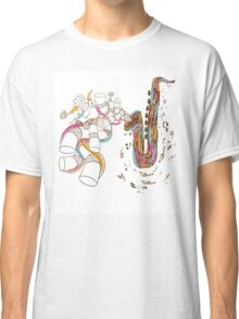 Jazz Saxophone doodle art Classic T-Shirt