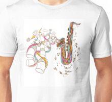 Jazz Saxophone doodle art Unisex T-Shirt