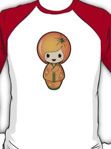 Orange Kokeshi Doll T-Shirt