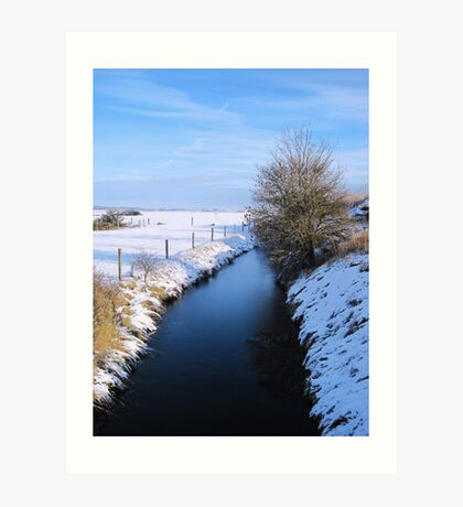 Winter river scene Art Print
