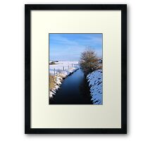 Winter river scene Framed Print