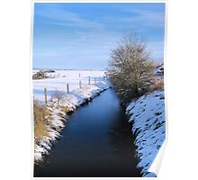 Winter river scene Poster