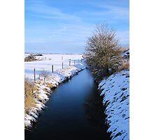 Winter river scene Photographic Print