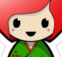 Apple Kokeshi Doll Sticker