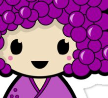 Grape Kokeshi Doll Sticker