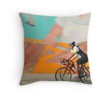 A ride on a sunny day Throw Pillow