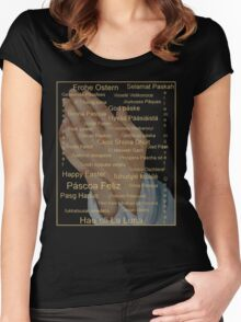 Happy Easter in all Languages Women's Fitted Scoop T-Shirt