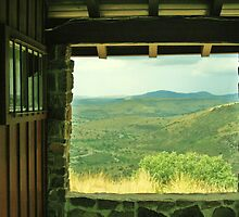Davis Mountains - Through the Window by Susan Russell
