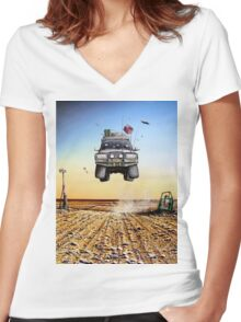 Are We There Yet?! Toyota Women's Fitted V-Neck T-Shirt
