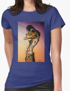 Elvis Emu Womens Fitted T-Shirt