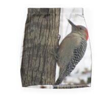 Red-bellied Woodpecker sticks out tongue Mini Skirt